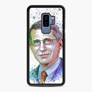 Anthony Fauci illustration Samsung Galaxy S9 Plus Case, Black Rubber Case | Webluence.com