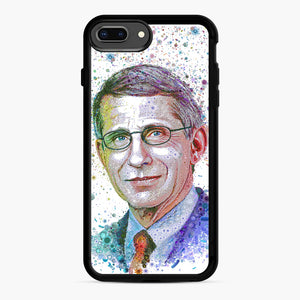 Anthony Fauci illustration iPhone 7,8 Plus Case, Black Rubber Case | Webluence.com