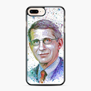 Anthony Fauci illustration iPhone 7,8 Plus Case, Black Plastic Case | Webluence.com