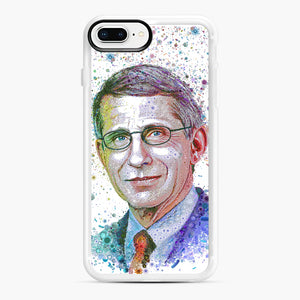 Anthony Fauci illustration iPhone 7,8 Plus Case, White Rubber Case | Webluence.com