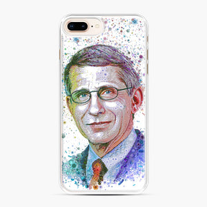 Anthony Fauci illustration iPhone 7,8 Plus Case, White Plastic Case | Webluence.com