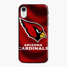 Load image into Gallery viewer, Arizona Cardinals Small Black Polka Dots iPhone XR Case