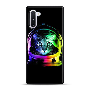Astronaut Cat Samsung Galaxy Note 10 Case, Black Rubber Case | Webluence.com