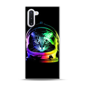 Astronaut Cat Samsung Galaxy Note 10 Case, White Rubber Case | Webluence.com