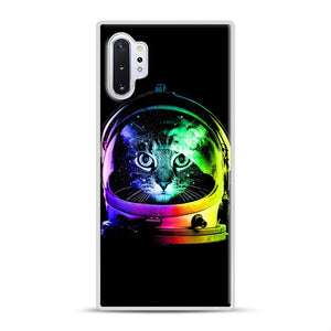 Astronaut Cat Samsung Galaxy Note 10 Plus Case, White Rubber Case | Webluence.com