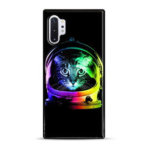 Astronaut Cat Samsung Galaxy Note 10 Plus Case, Black Rubber Case | Webluence.com