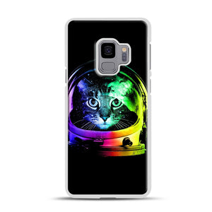 Astronaut Cat Samsung Galaxy S9 Case, White Rubber Case | Webluence.com