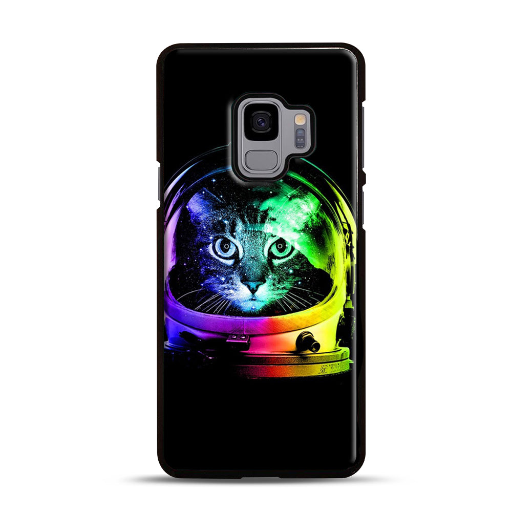 Astronaut Cat Samsung Galaxy S9 Case, Black Plastic Case | Webluence.com