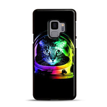 Load image into Gallery viewer, Astronaut Cat Samsung Galaxy S9 Case, Black Rubber Case | Webluence.com
