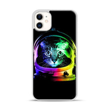 Load image into Gallery viewer, Astronaut Cat iPhone 11 Case.jpg, White Plastic Case | Webluence.com