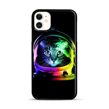 Load image into Gallery viewer, Astronaut Cat iPhone 11 Case.jpg, Black Plastic Case | Webluence.com