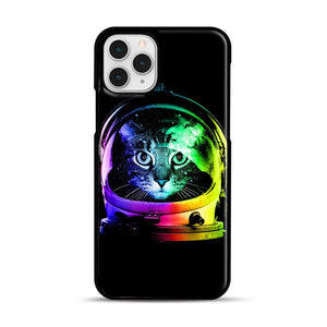 Astronaut Cat iPhone 11 Pro Case, Black Rubber Case | Webluence.com