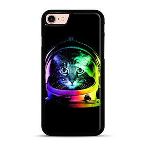Astronaut Cat iPhone 7/8 Case.jpg, Black Plastic Case | Webluence.com