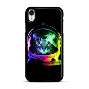 Astronaut Cat iPhone XR Case, Black Rubber Case | Webluence.com
