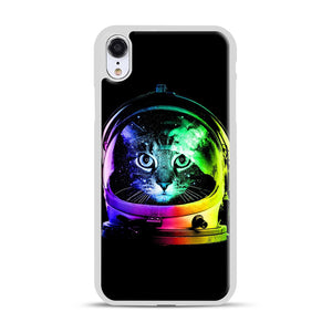 Astronaut Cat iPhone XR Case, White Plastic Case | Webluence.com