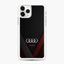 Load image into Gallery viewer, Audi 3D Logo Carbon Viber Red Black iPhone 11 Pro Case