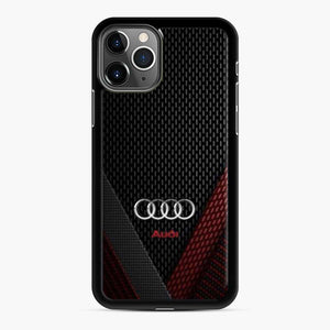 Audi 3D Logo Carbon Viber Red Black iPhone 11 Pro Case