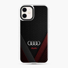 Load image into Gallery viewer, Audi 3D Logo Carbon Viber Red Black iPhone 11 Case