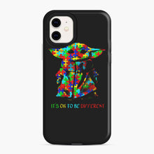Load image into Gallery viewer, Autism awareness it's ok to be different Baby Yoda iPhone 11 Case, Snap Case | Webluence.com