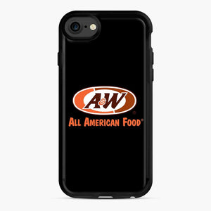 Aw All American Food iPhone 7/8 Case, Black Rubber Case | Webluence.com
