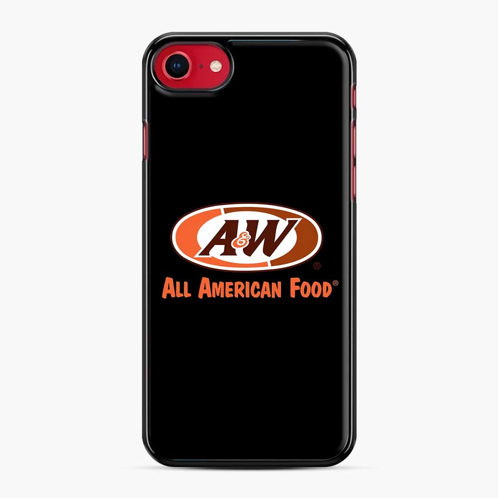 Aw All American Food iPhone 7/8 Case, Black Plastic Case | Webluence.com