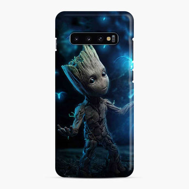 Baby Groot and Dandeleon Flower Samsung Galaxy S10 Case, Snap Case