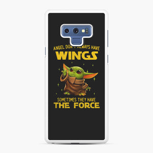 Baby Yoda Angel Don't Have Wings The Force Star Wars Samsung Galaxy Note 9 Case, White Rubber Case | Webluence.com
