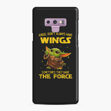 Load image into Gallery viewer, Baby Yoda Angel Don't Have Wings The Force Star Wars Samsung Galaxy Note 9 Case, Snap Case | Webluence.com