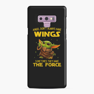 Baby Yoda Angel Don't Have Wings The Force Star Wars Samsung Galaxy Note 9 Case, Snap Case | Webluence.com