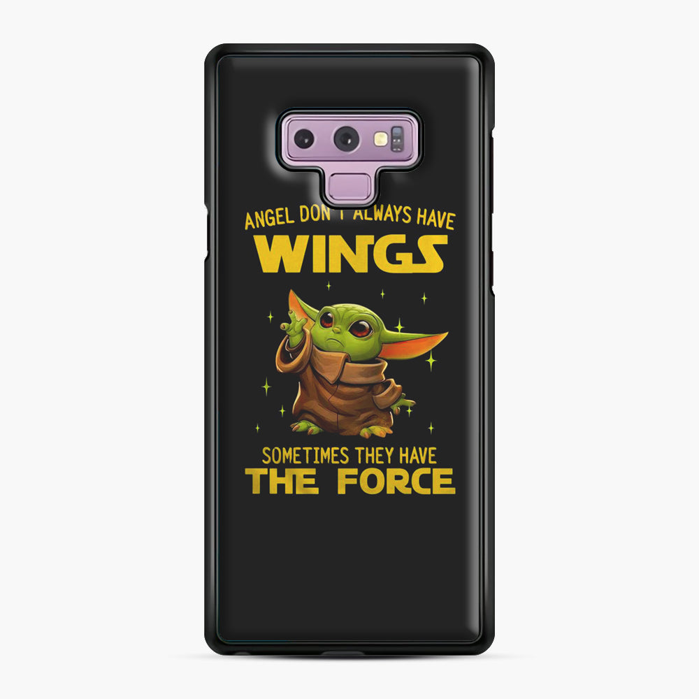 Baby Yoda Angel Don't Have Wings The Force Star Wars Samsung Galaxy Note 9 Case, Black Plastic Case | Webluence.com