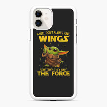 Load image into Gallery viewer, Baby Yoda Angel Don't Have Wings The Force Star Wars iPhone 11 Case, White Rubber Case | Webluence.com