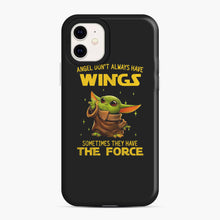 Load image into Gallery viewer, Baby Yoda Angel Don't Have Wings The Force Star Wars iPhone 11 Case, Snap Case | Webluence.com