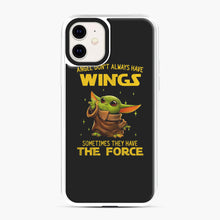 Load image into Gallery viewer, Baby Yoda Angel Don't Have Wings The Force Star Wars iPhone 11 Case, White Plastic Case | Webluence.com