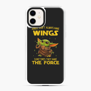Baby Yoda Angel Don't Have Wings The Force Star Wars iPhone 11 Case, White Plastic Case | Webluence.com