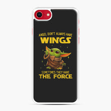 Load image into Gallery viewer, Baby Yoda Angel Don't Have Wings The Force Star Wars iPhone 7/8 Case, White Plastic Case | Webluence.com