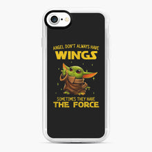 Load image into Gallery viewer, Baby Yoda Angel Don't Have Wings The Force Star Wars iPhone 7/8 Case, White Rubber Case | Webluence.com