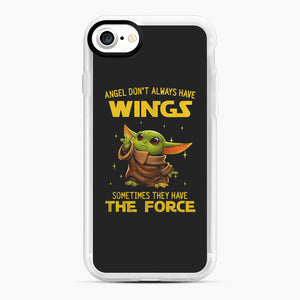 Baby Yoda Angel Don't Have Wings The Force Star Wars iPhone 7/8 Case, White Rubber Case | Webluence.com