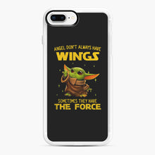 Load image into Gallery viewer, Baby Yoda Angel Don't Have Wings The Force Star Wars iPhone 7,8 Plus Case, White Rubber Case | Webluence.com