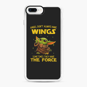 Baby Yoda Angel Don't Have Wings The Force Star Wars iPhone 7,8 Plus Case, White Rubber Case | Webluence.com