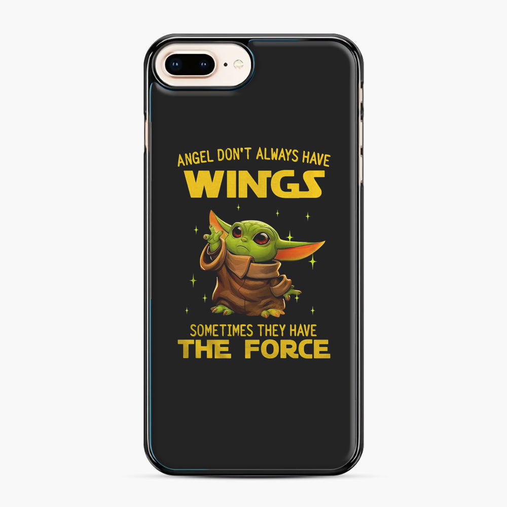 Baby Yoda Angel Don't Have Wings The Force Star Wars iPhone 7,8 Plus Case, Black Plastic Case | Webluence.com