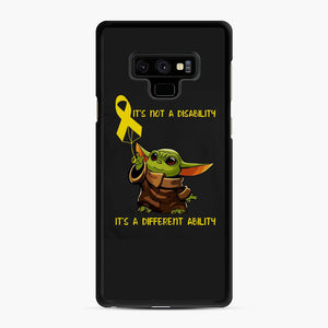 Baby Yoda Autism It's Not A Disability It's A Different Ability Samsung Galaxy Note 9 Case, Black Rubber Case | Webluence.com