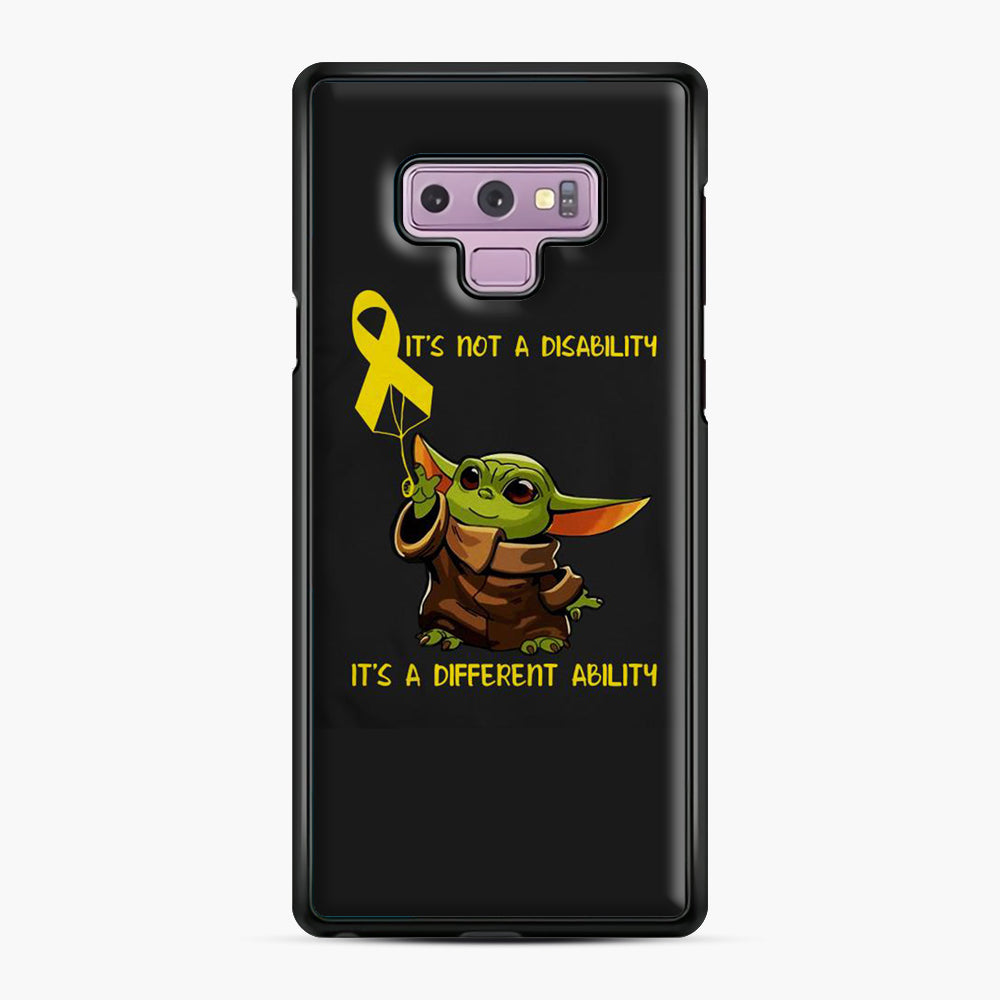 Baby Yoda Autism It's Not A Disability It's A Different Ability Samsung Galaxy Note 9 Case, Black Plastic Case | Webluence.com
