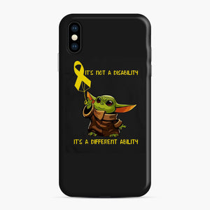 Baby Yoda Autism It's Not A Disability It's A Different Ability iPhone XS Max Case, Snap Case | Webluence.com