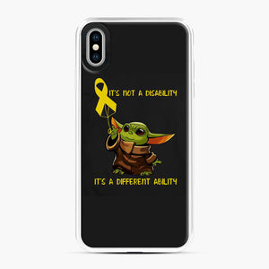 Baby Yoda Autism It's Not A Disability It's A Different Ability iPhone XS Max Case, White Plastic Case | Webluence.com