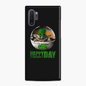Baby Yoda Happy St Patrick's Day Samsung Galaxy Note 10 Plus Case, Snap Case | Webluence.com