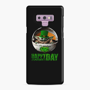 Baby Yoda Happy St Patrick's Day Samsung Galaxy Note 9 Case, Snap Case | Webluence.com