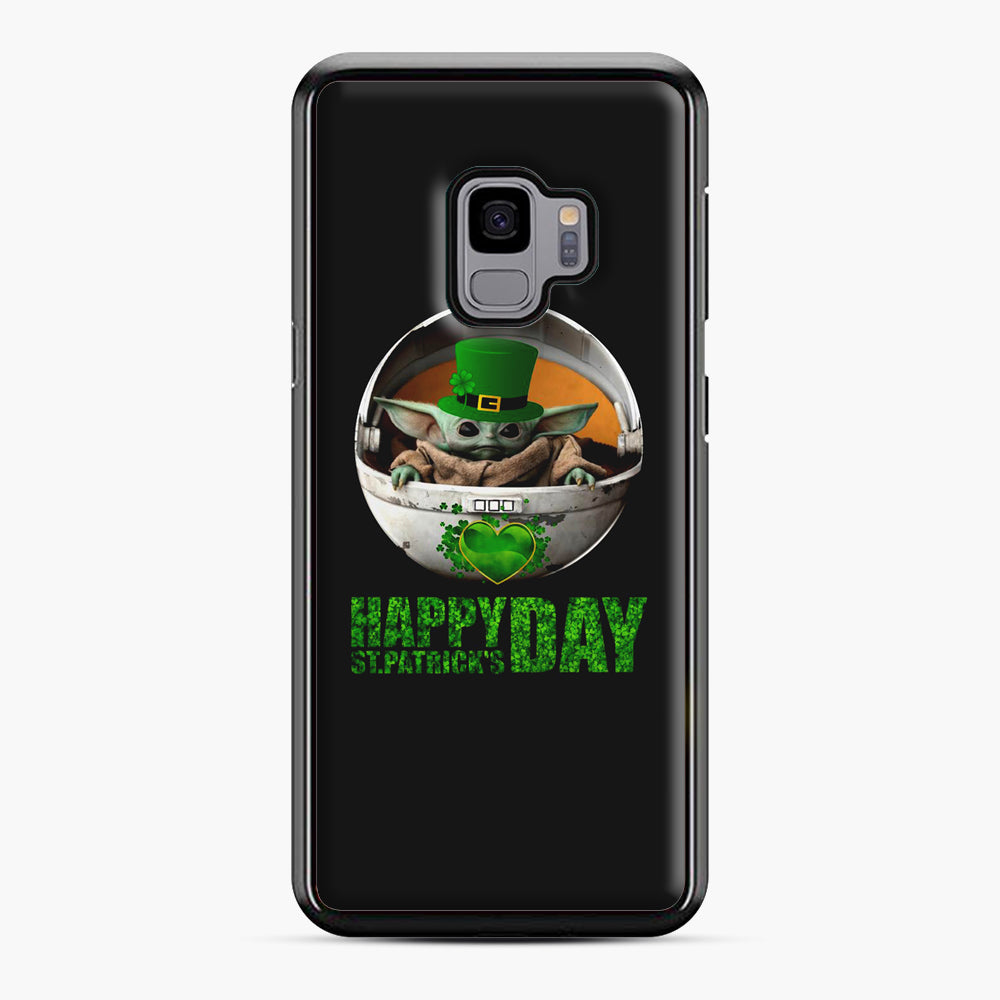 Baby Yoda Happy St Patrick's Day Samsung Galaxy S9 Case, Black Plastic Case | Webluence.com