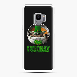 Baby Yoda Happy St Patrick's Day Samsung Galaxy S9 Case, White Plastic Case | Webluence.com