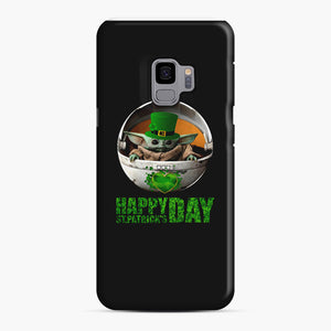 Baby Yoda Happy St Patrick's Day Samsung Galaxy S9 Case, Snap Case | Webluence.com