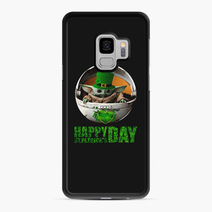 Baby Yoda Happy St Patrick's Day Samsung Galaxy S9 Case, Black Rubber Case | Webluence.com